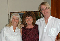 Kay Zega with Kevin Core and his wife Christine, founders of Angelic Reiki, at the June 2007 Angelic Reiki Master Teacher Update in Yorkshire